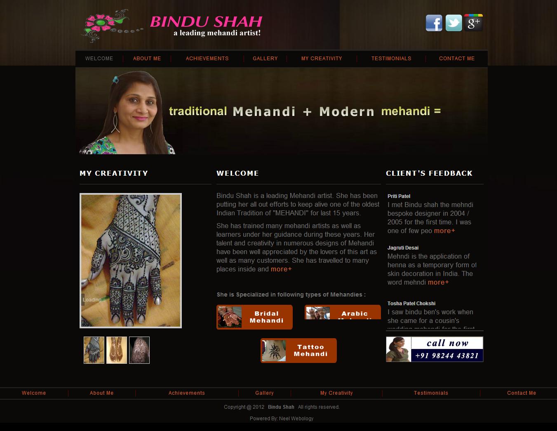 Bindu Shah – A Leading Mehandi Artist!