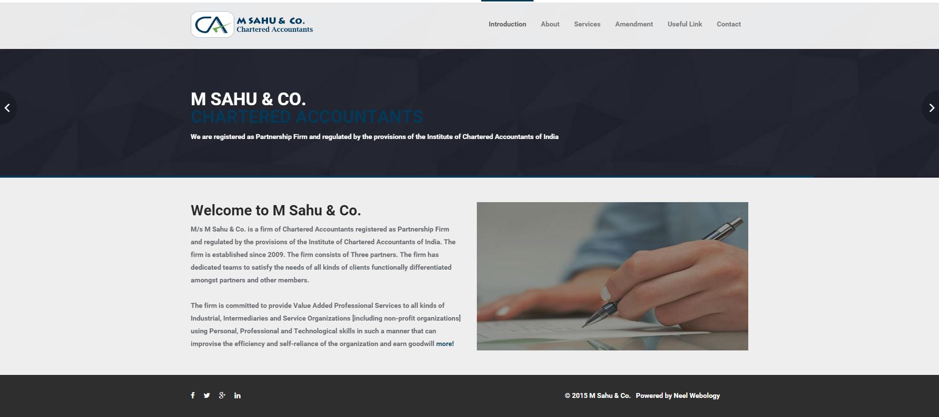 CA – M Sahu & Co.